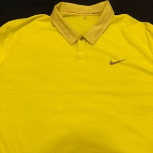 Yellow Nike TW Collection Polo XXL